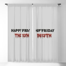 Happy Friday The 13th Blackout Curtain