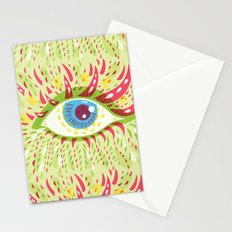 Front Looking Psychedelic Eye Stationery Cards