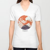 camp V-neck T-shirts featuring Base Camp by mattdunne