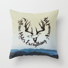 Caffeine Rules Everything Around Me Throw Pillow