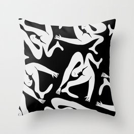 Picasso Pattern - Black and White Throw Pillow