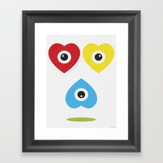 ASSORTED HEARTS Framed Art Print