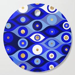Greek Mati Mataki - Matiasma Evil Eye blues Cutting Board