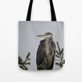 Tree Top Heron at Dawson Creek Park Tote Bag