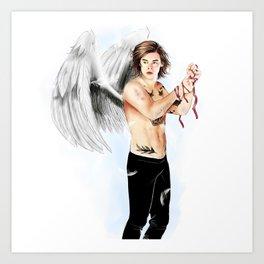 Angel with a shotgun  Art Print