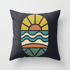 Lets Go Surfing Throw Pillow