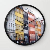 copenhagen Wall Clocks featuring Copenhagen by Anya Kubilus