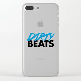 Dirty Beats Rave Quote Clear iPhone Case