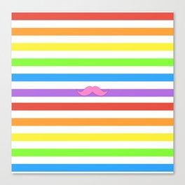 Pink Rainbow Mustache Madness! Canvas Print
