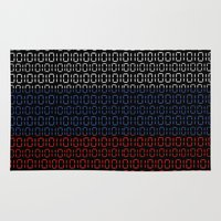 russia Area & Throw Rugs featuring digital Flag (Russia) by seb mcnulty