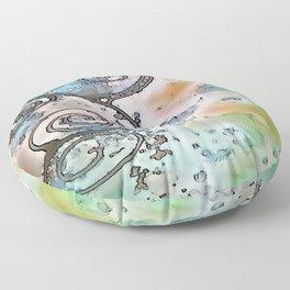Vintage swirl Floor Pillow