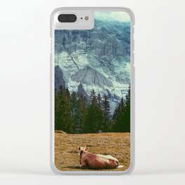 Cow in switzerland Clear iPhone Case