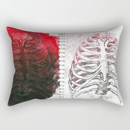 Damaged Ribs Rectangular Pillow