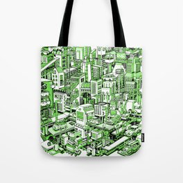 City Machine - Green Tote Bag