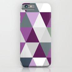 Big triangles lilac iPhone 6s Slim Case
