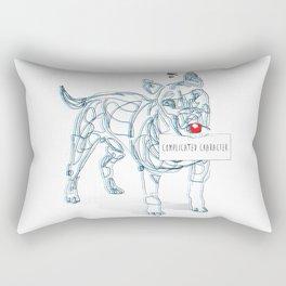 complicated character Rectangular Pillow