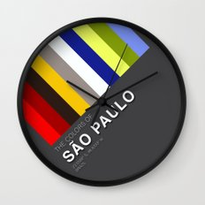 Colors of Sao Paulo Wall Clock