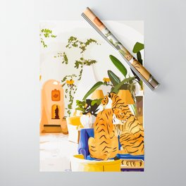 Tiger Reserve #painting #illustration #tigers #wildlife Wrapping Paper