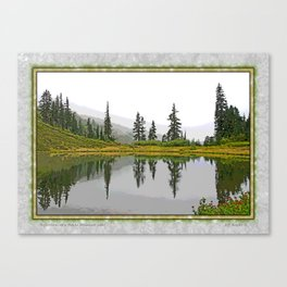 REFLECTIONS ON A PLACID MOUNTAIN LAKE Canvas Print