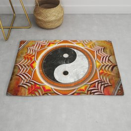 Yin Yang - Healing Of The Orange Chakra Rug
