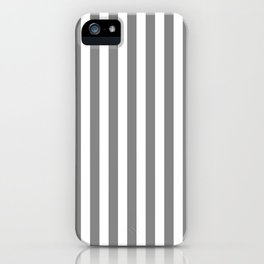STRIPED DESIGN (GREY-WHITE) iPhone Case