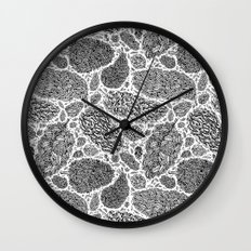Nugs in Black and White Wall Clock