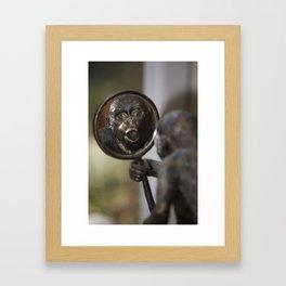 Mirror Monkey Framed Art Print