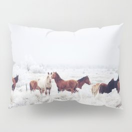 Winter Horseland Pillow Sham
