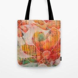 Fiery open flowers Tote Bag