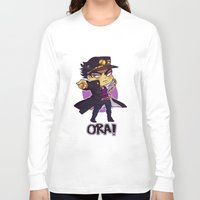 jjba Long Sleeve T-shirts featuring ORA by Bettwitch