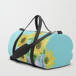 Sunflowers on Blues Duffle Bag