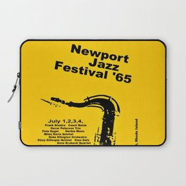 Vintage 1965 Newport, R.I Jazz Festival Advertisement Poster Laptop Sleeve