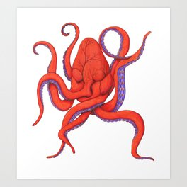 Follow Your Hearctopus Art Print