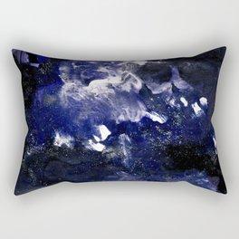 galaxy in blue Rectangular Pillow