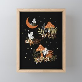 Magic Mushrooms Framed Mini Art Print