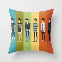 tegan and sara Throw Pillows featuring Tegan and Sara: Tegan collection by Cas.