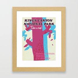 Kings Canyon National Park California vintage travel poster Framed Art Print