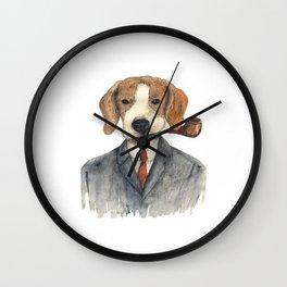 Monsieur Beagle Wall Clock