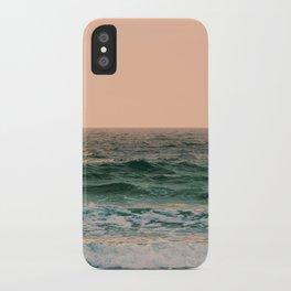 Pink Skies Ocean Vibes iPhone Case