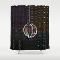 globe Shower Curtains featuring Bubble Globe by Khana's Web