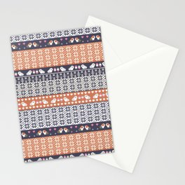 Fair Isle Christmas Guinea pig Pattern Stationery Cards