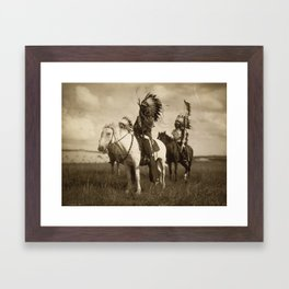 Sepia Toned Indian Photo Framed Art Print