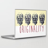 skulls Laptop & iPad Skins featuring Skulls  by SofRusso