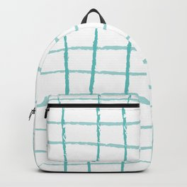 Blue Grid Backpack