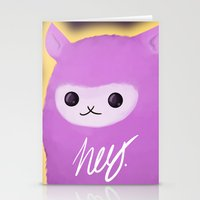 alpaca Stationery Cards featuring Alpaca by Domi