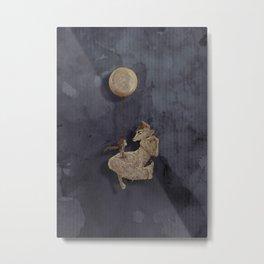 The Moon Fox Metal Print