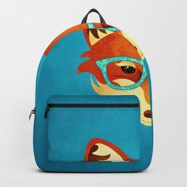 Hipster Fox: Azure Backpack