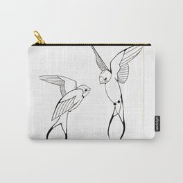 Lovebirds-Swallows Carry-All Pouch