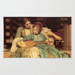 "Frederic Leighton ""Music lesson"" Rug"