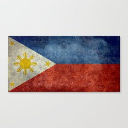 Republic of the Philippines national flag (50% of commission WILL go to help them recover) Canvas Print